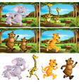 set animal running in park vector image vector image
