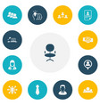 set of 13 editable job icons includes symbols vector image