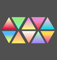 set of gradient futuristic triangles set vector image