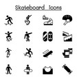 skateboard icon set graphic design vector image
