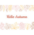 sketch autumn leaves background fall leaf banner vector image