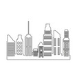 skyscrapers building city business residential vector image vector image