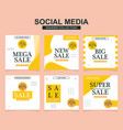social media banners pack for website and mobile vector image