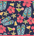 summer vacation retro pattern in beach style vector image
