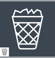 trash bin related glyph icon vector image