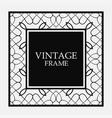 vintage border frame vector image vector image