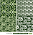Vintage ornamental green backgrounds set vector image vector image