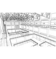 warehouse sketch vector image vector image
