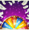 wheel of fortune banner win fortune vector image vector image