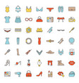 womens accessories color icons set vector image vector image