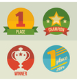 First place icons set flat design vector image