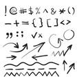 hand written marker pen signs vector image