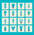 light bulbs icon set vector image