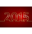 2015 new year red greeting billboard with golden vector image vector image