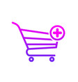 add basket buy shop shopping icon vector image vector image