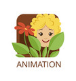 animation cinema genre symbol for cinema or vector image