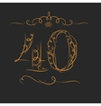 Anniversary 40th signs vector image