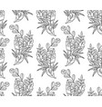balck and white seamless pattern of tropical vector image