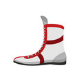 boxing shoes retro footwear for boxer training vector image vector image