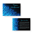 bright brochure with neon light vector image vector image