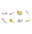 building repair icons in set collection for design vector image vector image