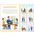 business meeting of team in office employment vector image