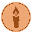 candle bronze coin vector image vector image