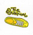 casual sneaker with lettering the original vector image vector image