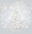 christmas and new years silver background vector image vector image