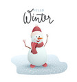 christmas cheerful snowman vector image vector image