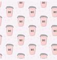 coffee romantic pattern restaurant business vector image vector image
