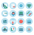collection education icons vector image