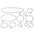comic speech text bubbles set01 vector image
