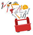 construction toolbox service ilustration vector image vector image