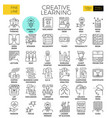 creative learning vector image vector image