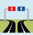 decision concept road signs vector image vector image