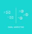 email marketing conversion of e-mail vector image vector image