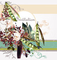 fashion invitation background or save date vector image vector image