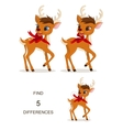 Find differences Christmas game for childrens vector image