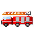 fire truck with ladder vector image vector image