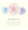 floral document template vector image