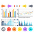 flowcharts with visualized data and timelines vector image vector image