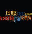 free criminal records background checks text vector image vector image