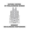 germany mecklenburg-vorpommern historic centres vector image vector image