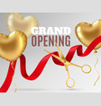 grand opening luxury festive invitation scissors vector image vector image