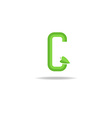 green letter g logo eco concept icon ecology vector image