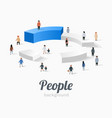group people standing on pie chart conceptual vector image