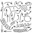 hand written marker pen arrows vector image
