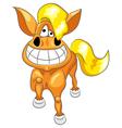 happy funny horse vector image vector image
