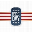 Happy Memorial Day textile Badge and Ribbon vector image vector image
